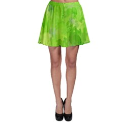 Splashes Of Color, Green Skater Skirts
