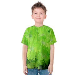 Splashes Of Color, Green Kid s Cotton Tee