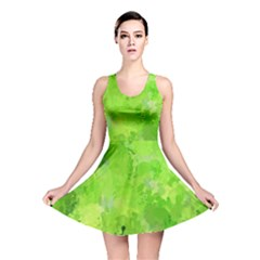 Splashes Of Color, Green Reversible Skater Dresses