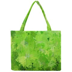 Splashes Of Color, Green Tiny Tote Bags