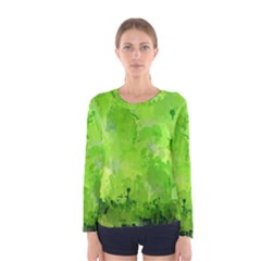 Splashes Of Color, Green Women s Long Sleeve T-shirts