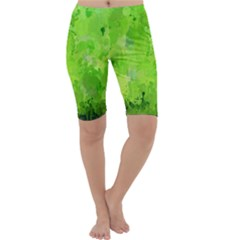 Splashes Of Color, Green Cropped Leggings