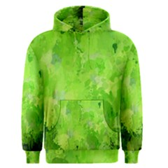 Splashes Of Color, Green Men s Pullover Hoodies
