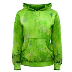 Splashes Of Color, Green Women s Pullover Hoodies