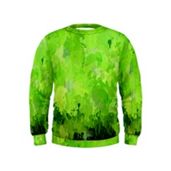 Splashes Of Color, Green Boys  Sweatshirts