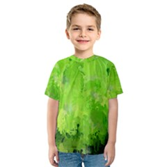 Splashes Of Color, Green Kid s Sport Mesh Tees