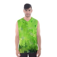 Splashes Of Color, Green Men s Basketball Tank Top