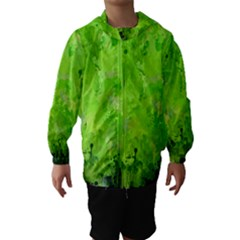 Splashes Of Color, Green Hooded Wind Breaker (Kids)