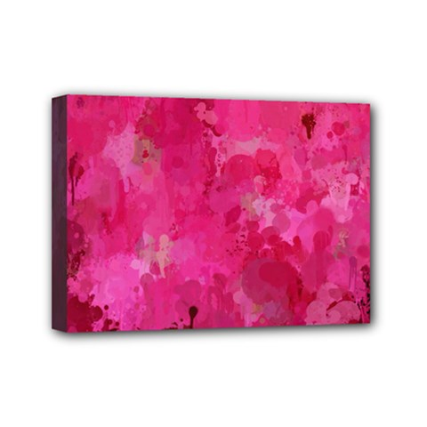 Splashes Of Color, Hot Pink Mini Canvas 7  x 5