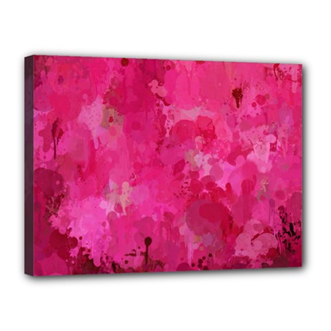 Splashes Of Color, Hot Pink Canvas 16  x 12