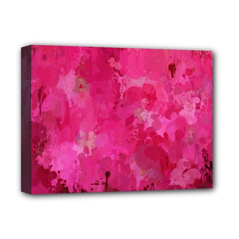 Splashes Of Color, Hot Pink Deluxe Canvas 16  x 12