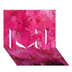 Splashes Of Color, Hot Pink I Love You 3d Greeting Card (7x5)