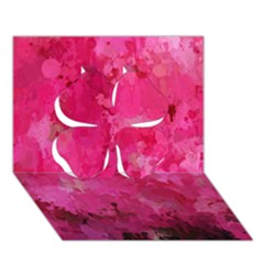 Splashes Of Color, Hot Pink Clover 3d Greeting Card (7x5)