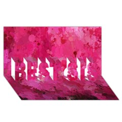Splashes Of Color, Hot Pink Best Sis 3d Greeting Card (8x4)