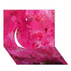 Splashes Of Color, Hot Pink Circle 3D Greeting Card (7x5)