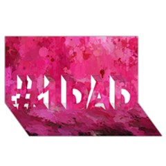 Splashes Of Color, Hot Pink #1 DAD 3D Greeting Card (8x4)