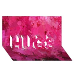 Splashes Of Color, Hot Pink HUGS 3D Greeting Card (8x4)