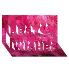 Splashes Of Color, Hot Pink Best Wish 3d Greeting Card (8x4)