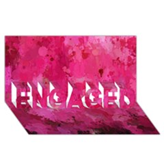 Splashes Of Color, Hot Pink ENGAGED 3D Greeting Card (8x4)