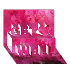 Splashes Of Color, Hot Pink Get Well 3D Greeting Card (7x5)