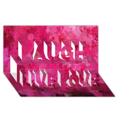 Splashes Of Color, Hot Pink Laugh Live Love 3D Greeting Card (8x4)