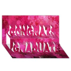 Splashes Of Color, Hot Pink Congrats Graduate 3D Greeting Card (8x4)