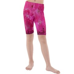 Splashes Of Color, Hot Pink Kid s Mid Length Swim Shorts