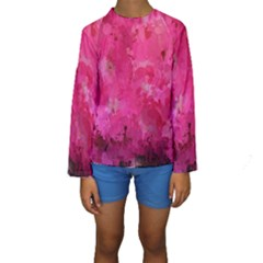 Splashes Of Color, Hot Pink Kid s Long Sleeve Swimwear