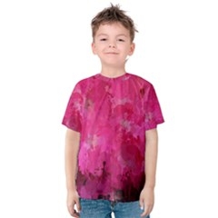 Splashes Of Color, Hot Pink Kid s Cotton Tee