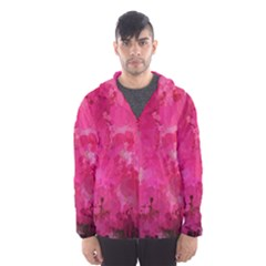 Splashes Of Color, Hot Pink Hooded Wind Breaker (men)