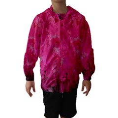 Splashes Of Color, Hot Pink Hooded Wind Breaker (kids)