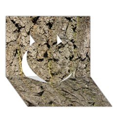 GREY TREE BARK Heart 3D Greeting Card (7x5)