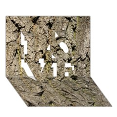Grey Tree Bark Love 3d Greeting Card (7x5)