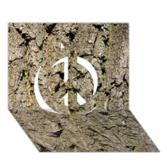 GREY TREE BARK Peace Sign 3D Greeting Card (7x5)