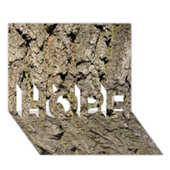 Grey Tree Bark Hope 3d Greeting Card (7x5)