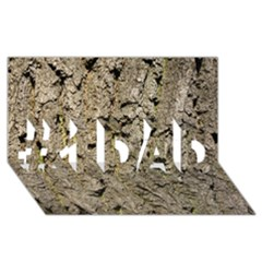 GREY TREE BARK #1 DAD 3D Greeting Card (8x4)