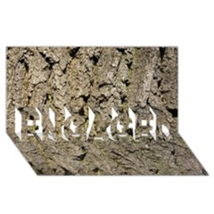GREY TREE BARK ENGAGED 3D Greeting Card (8x4)