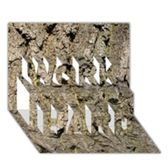 Grey Tree Bark Work Hard 3d Greeting Card (7x5)