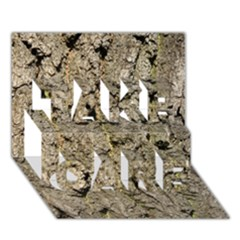 GREY TREE BARK TAKE CARE 3D Greeting Card (7x5)
