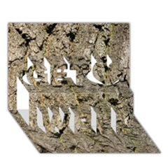 Grey Tree Bark Get Well 3d Greeting Card (7x5)
