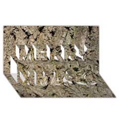 GREY TREE BARK Merry Xmas 3D Greeting Card (8x4)