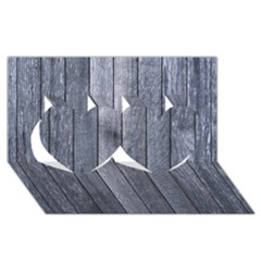 GREY FENCE Twin Hearts 3D Greeting Card (8x4)