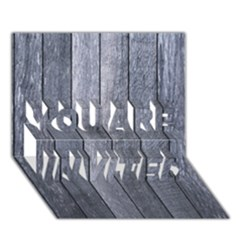 Grey Fence You Are Invited 3d Greeting Card (7x5)