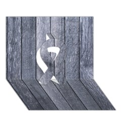 Grey Fence Ribbon 3d Greeting Card (7x5)