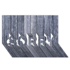 GREY FENCE SORRY 3D Greeting Card (8x4)