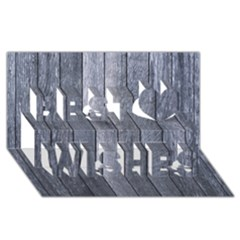 GREY FENCE Best Wish 3D Greeting Card (8x4)