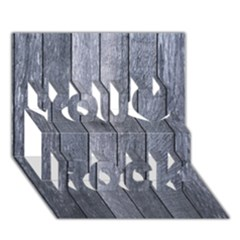 Grey Fence You Rock 3d Greeting Card (7x5)