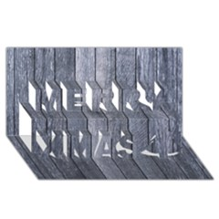 GREY FENCE Merry Xmas 3D Greeting Card (8x4)