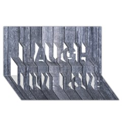 Grey Fence Laugh Live Love 3d Greeting Card (8x4)