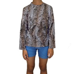 DOUGLAS FIR BARK Kid s Long Sleeve Swimwear